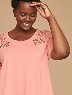 Plus size cold shoulder tee shop tees and tanks