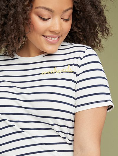 Plus size striped tee shop tees and tanks