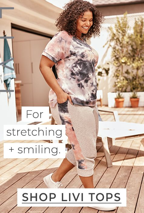 Shop LIVI Tops. For stretching + smiling.