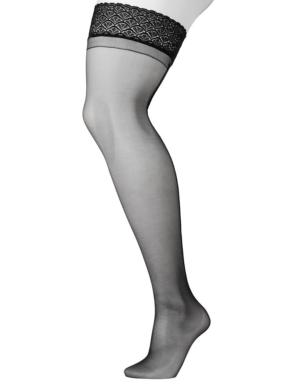 2cf477558f5 Plus Size Back Seam Thigh Highs by Lane Bryant