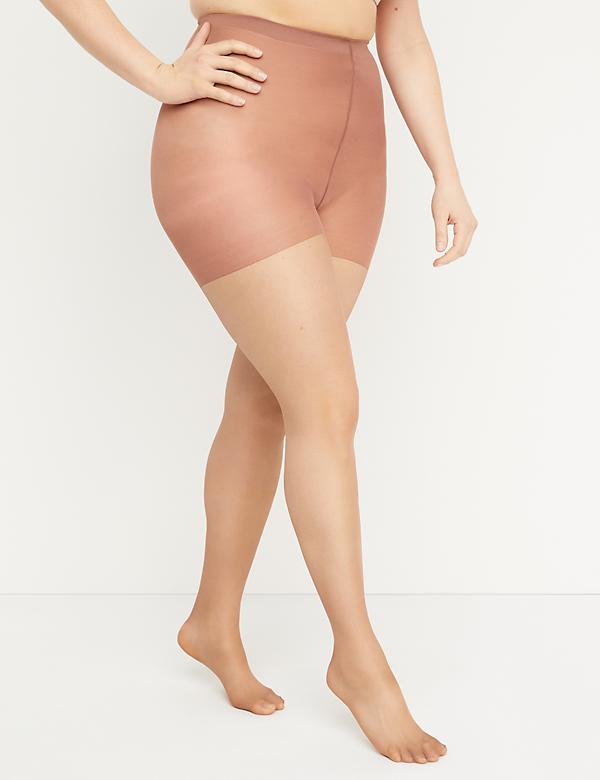 Level 1 High-Waist Smoothing Tights - Shimmer Sheer