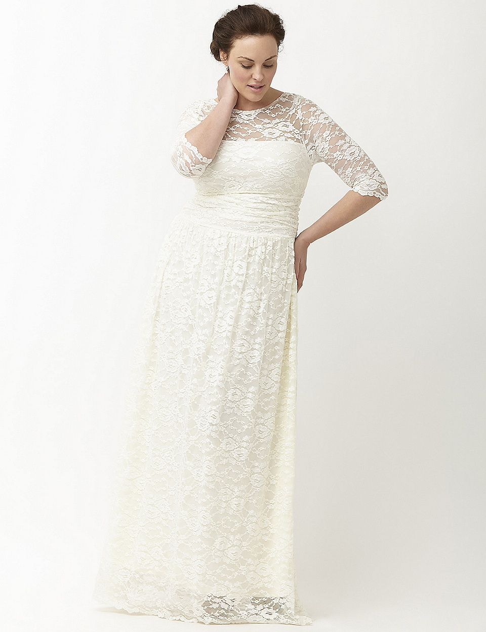 Lace Illusion Wedding Gown By Kiyonna