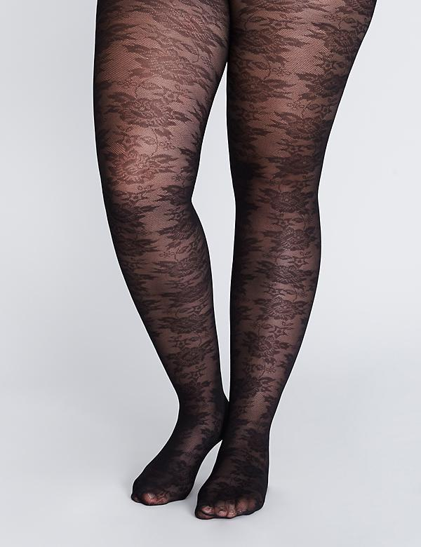 Smoothing Tights - Floral Lace