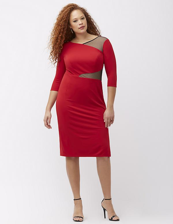 Point d'esprit midi dress by ABS Allen Schwartz