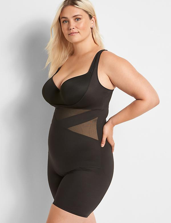 Shape by Cacique Illusion open bust bodysuit