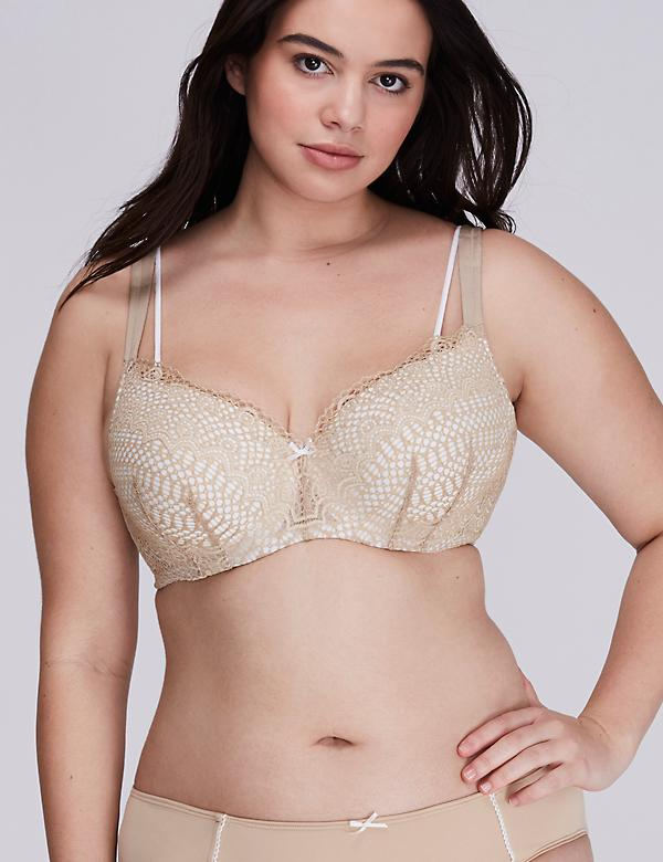 Cafe Mocha Linear Lace Smooth Balconette Bra