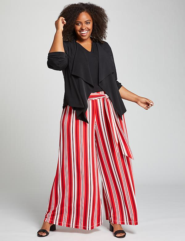 Knit Kit Tie-Waist Wide Leg Pant