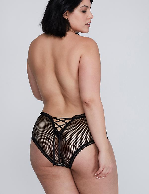 Fishnet & Lace Cheeky Panty