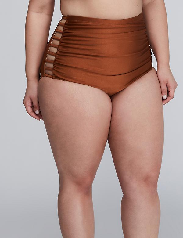 Shimmer Mid-Waist Swim Brief with Strappy Sides