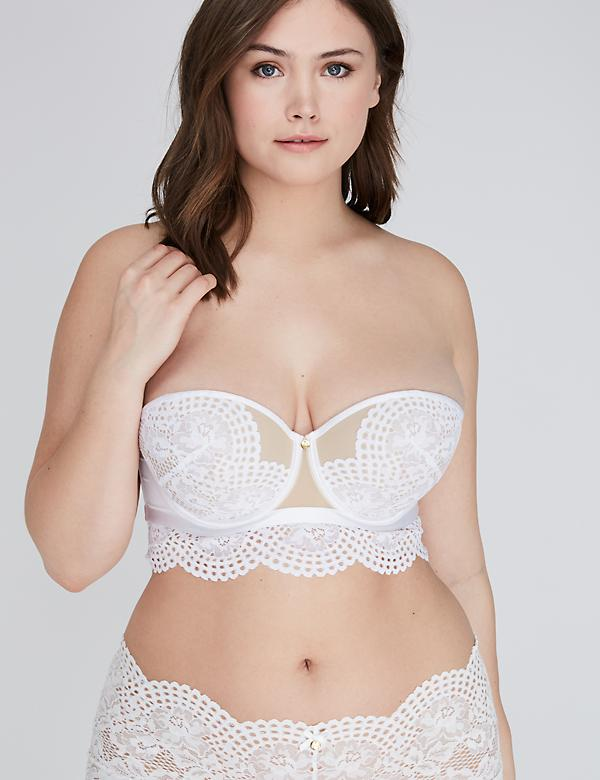 Lace Longline Multi-Way Strapless Bra