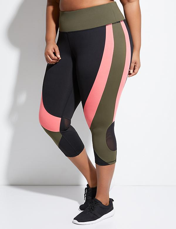 Wicking Active Capri Legging with Mesh