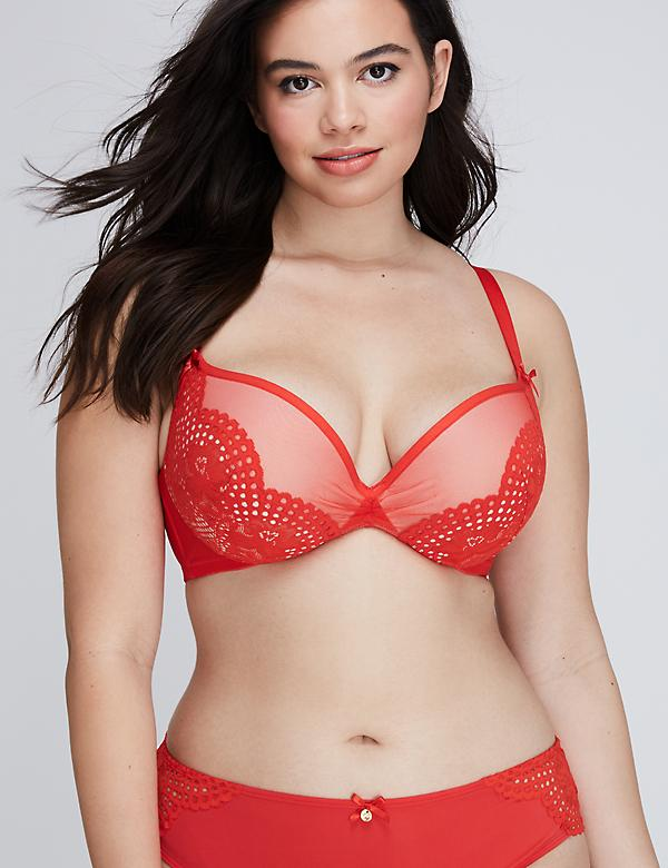 Scalloped Lace Max Swell Plunge Bra