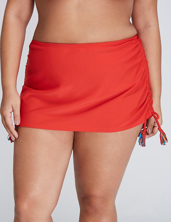 Tassel Drawstring Swim Skirt