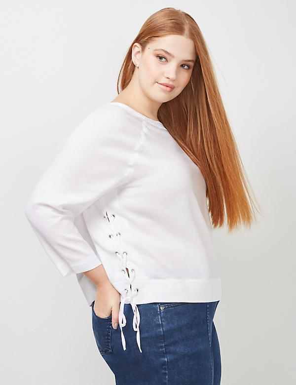 6th & Lane Lace-Up Raglan Shirt