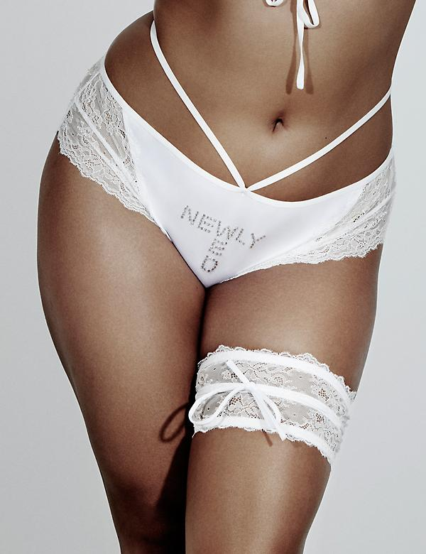 Embellished Lace-Back Cheeky Panty by Sophie Theallet