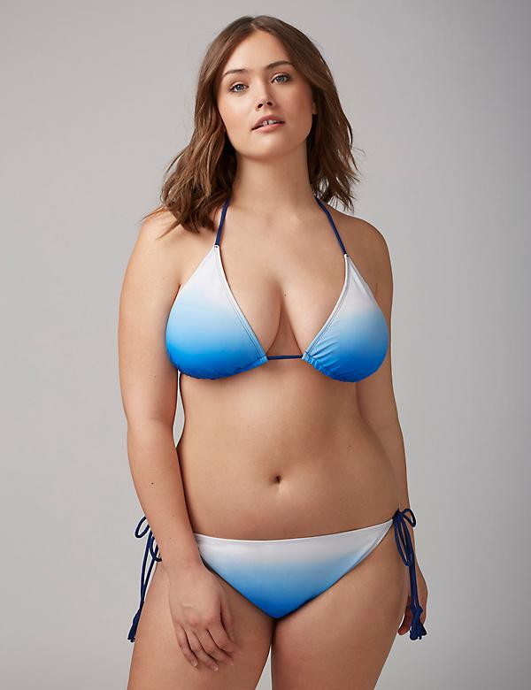 Ombre Side-Tie String Bikini Bottom