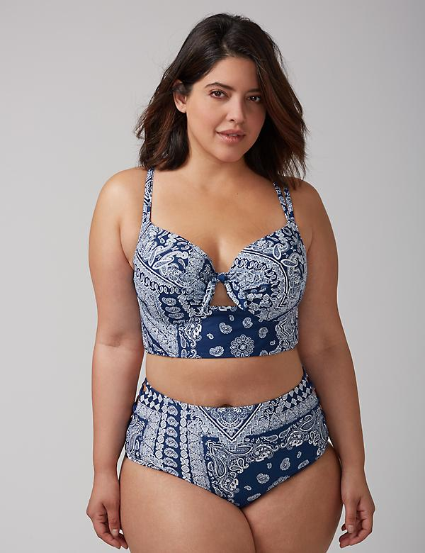 Longline Bikini Top with Built-In Balconette Bra