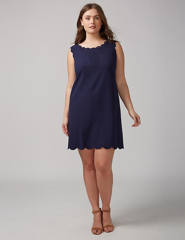 Navy Lace Dress by Julia Jordan