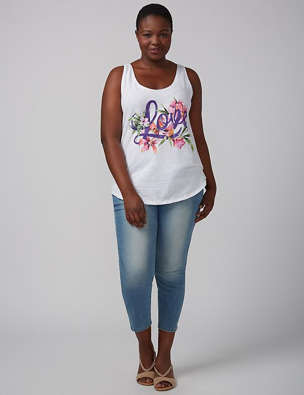 Floral Love Graphic Tank