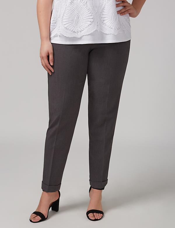 Lena Tailored Stretch Cuffed Ankle Pant