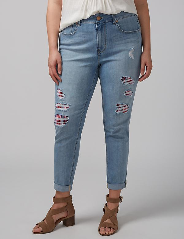 Girlfriend Jean with Contrast Lining by Melissa McCarthy Seven7