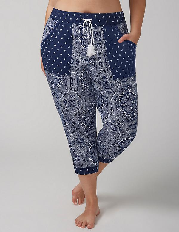 Patch-Pocket Cropped Sleep Jogger