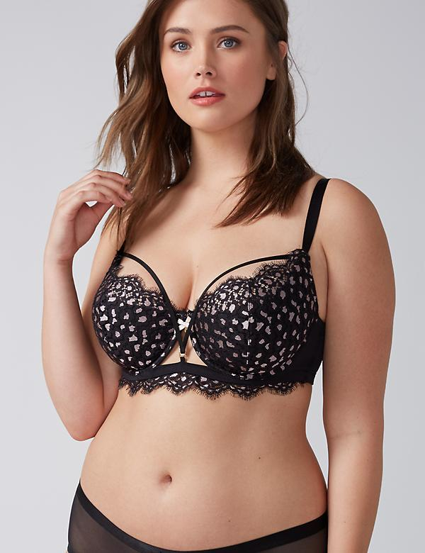 Animal Lace French Balconette Bra