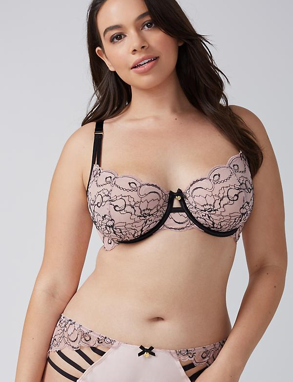 Floral Lace Unlined Balconette Bra