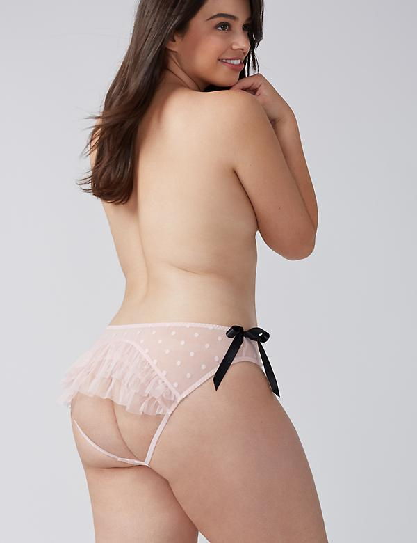 Open-Back Panty with Dots & Ruffles