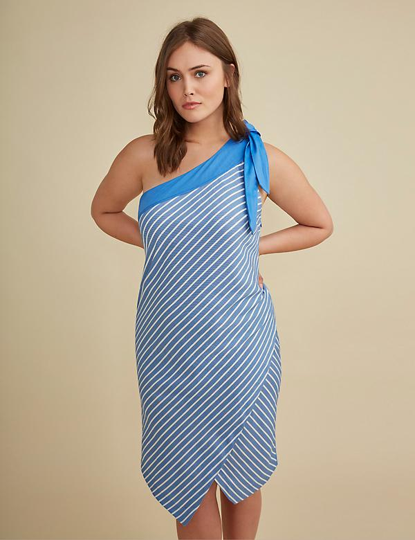 One-Shoulder Sheath Dress by GLAMOUR X LANE BRYANT