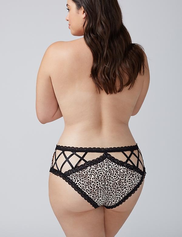Strappy-Back Cheeky Panty with Lace Trim