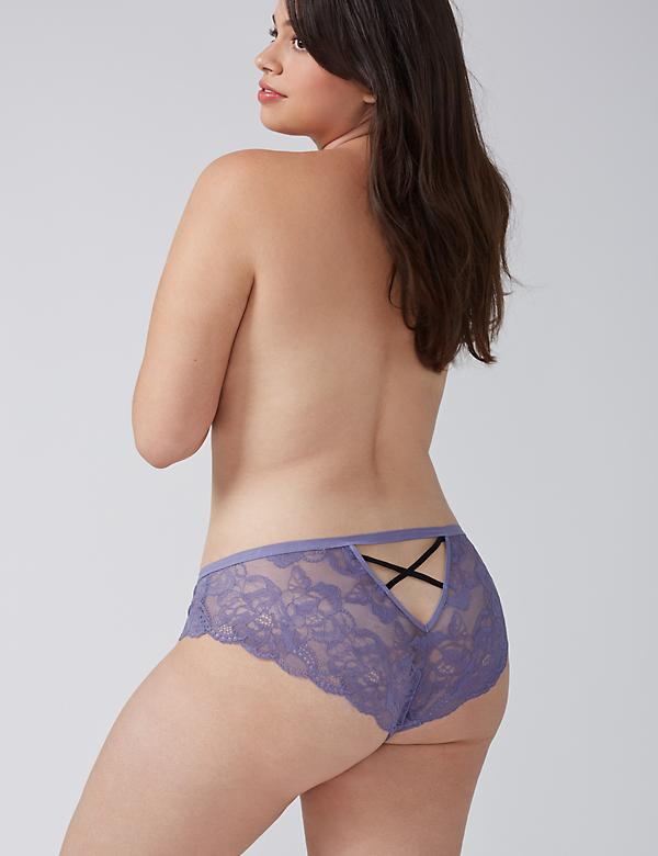 Strappy-Back Lace Cheeky Panty