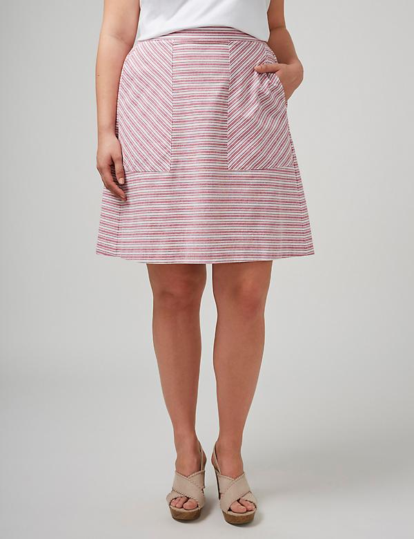Patch-Pocket Skirt