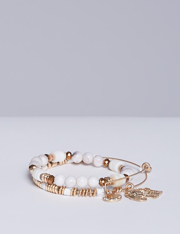 2-Row Elephant Bracelet Set