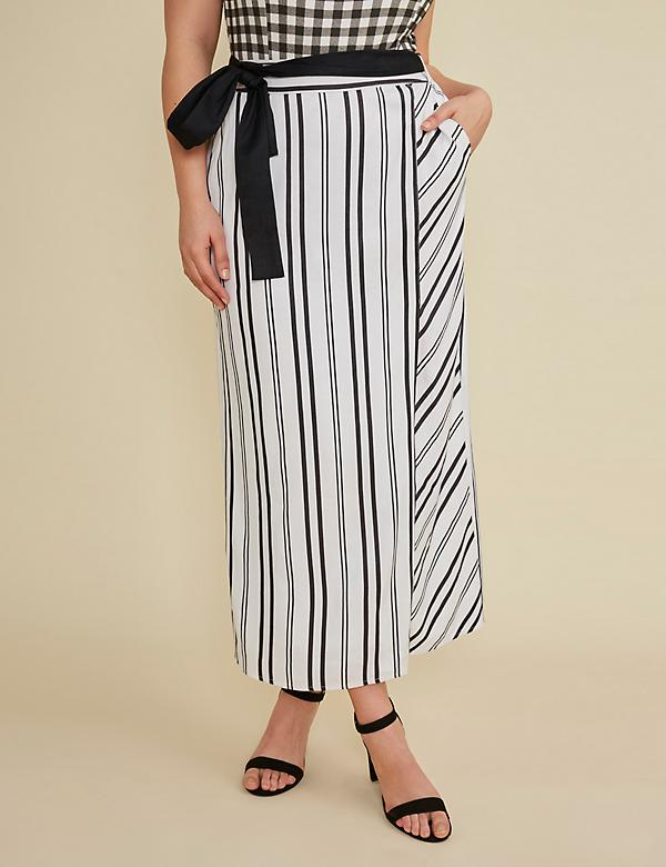 Faux Wrap Maxi Skirt by GLAMOUR X LANE BRYANT