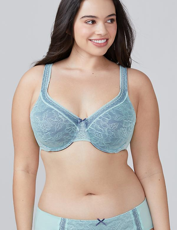 Modern Lace Unlined Full Coverage Bra