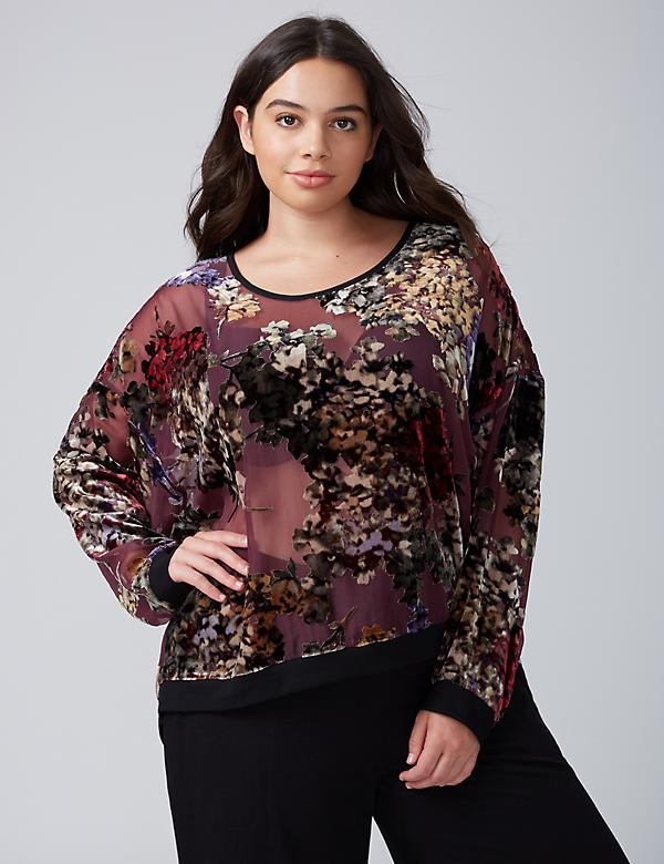 Velvet Burnout Lounge Top