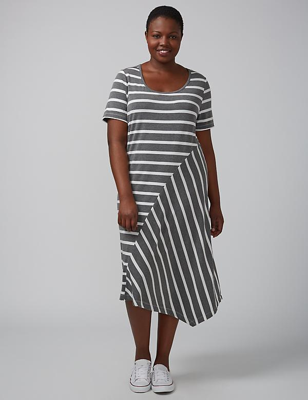 T-Shirt Dress with Asymmetrical Hem