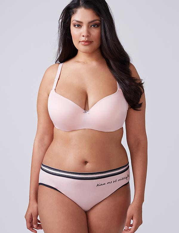 Smooth Lightly Lined Balconette Bra with Lace