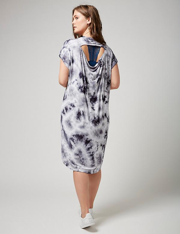 Fast Lane Tie Dye T Shirt Dress