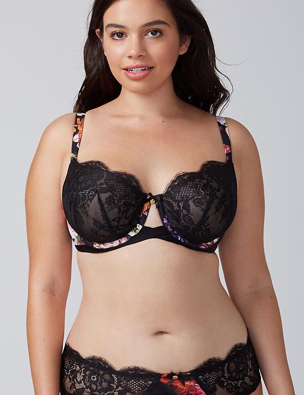 Floral Print Unlined Full Coverage Bra