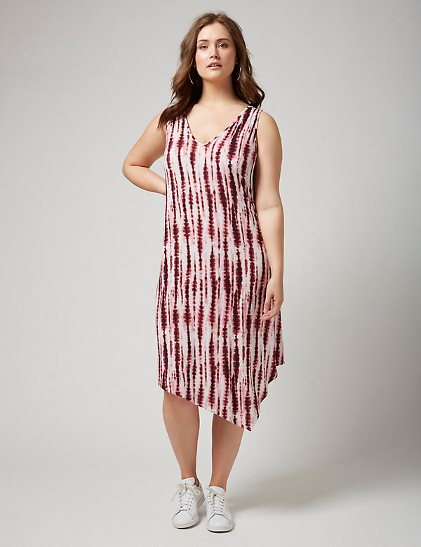 Fast Lane Tie-Dye Dress with Asymmetrical Hem
