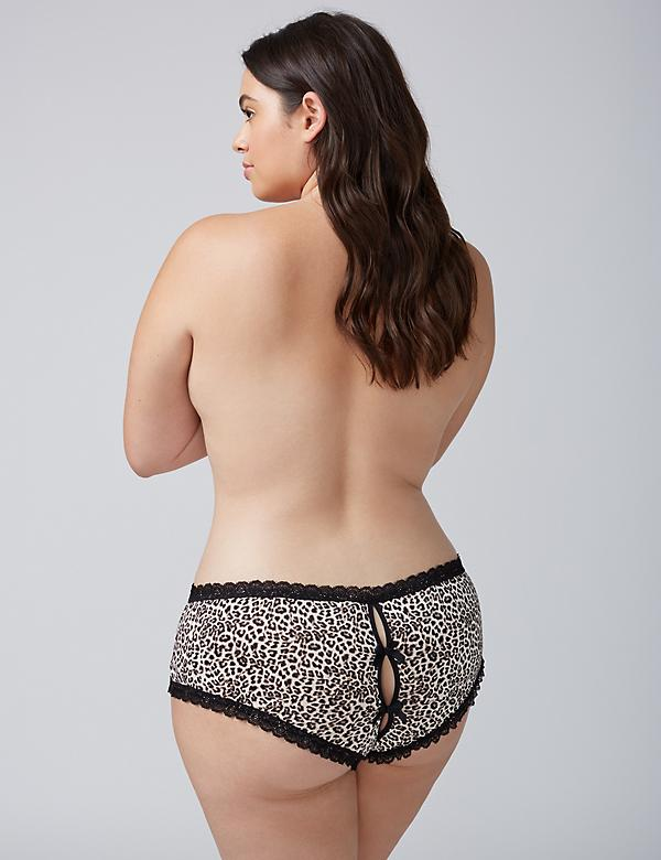 Animal Print Panty with Split Gusset