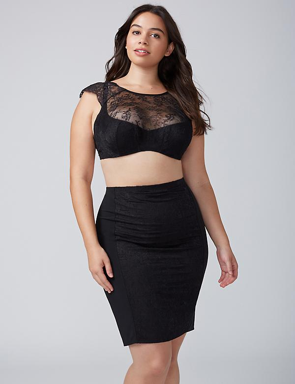 Lace Half-Slip Skirt