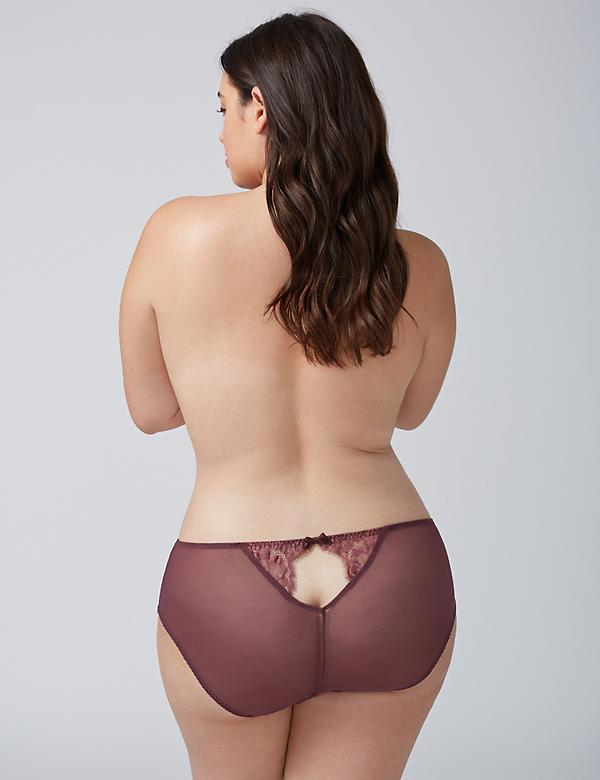 Hipster Panty with Eyelash Lace & Split Gusset