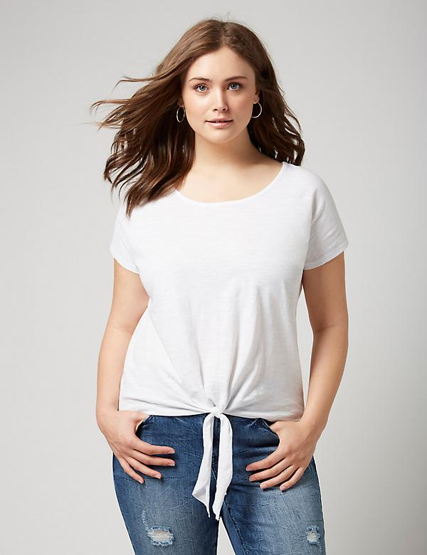 Fast Lane Tie-Front Tee