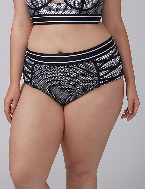 Swim Brief with Criss-Cross Sides
