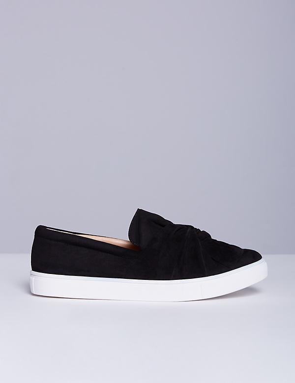 Knotted Faux Suede Sneaker