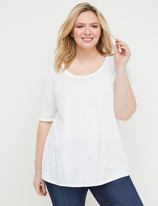 Perfect Sleeve Scoop-Neck Tee