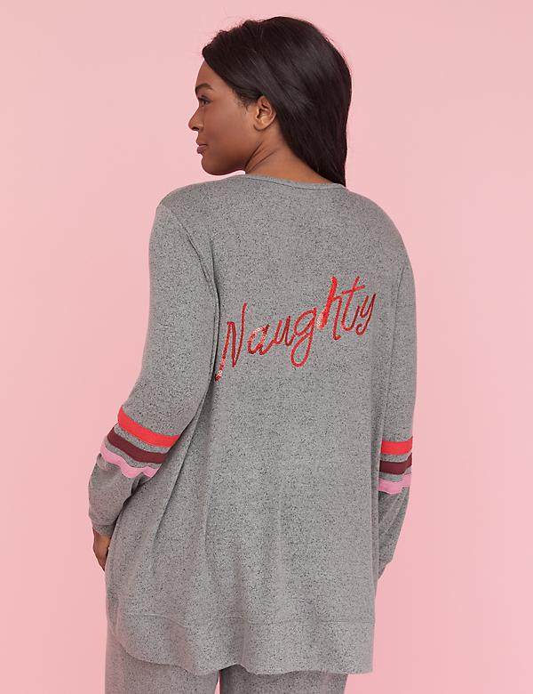 graphic brushed jersey sleep top naughtynice